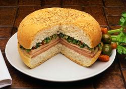Our Famous Muffuletta with Olive Salad Dressing